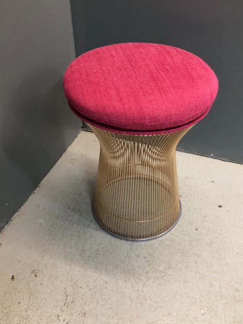 Petit fauteuil et tabouret Platner